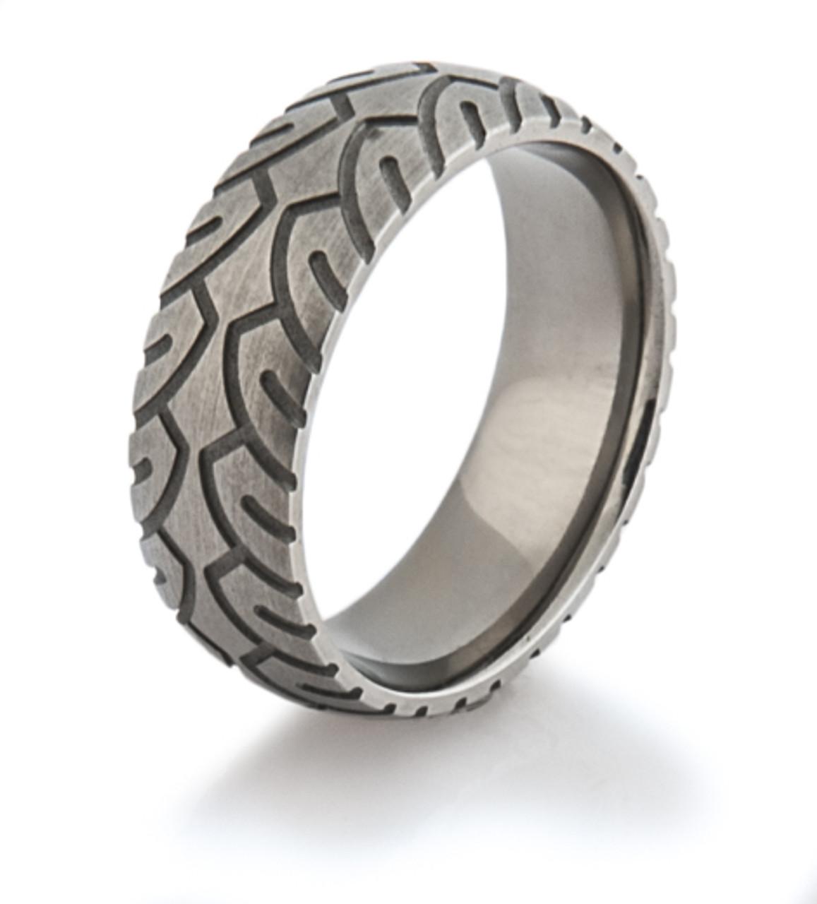Mens Titanium Motorcycle Ring Titanium Buzz