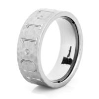 Hammered Titanium Duck Band Wedding Ring - Titanium-Buzz