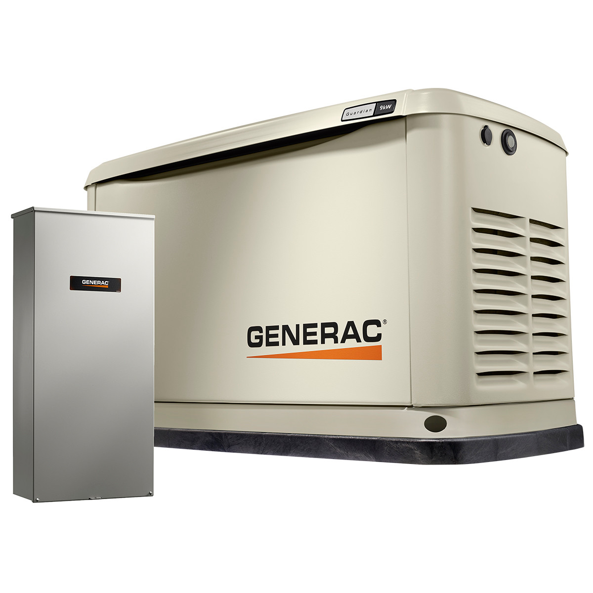 generac guardian 7030 9kw generator with wi fi 100a 16 circuit transfer switch [ 1200 x 1200 Pixel ]