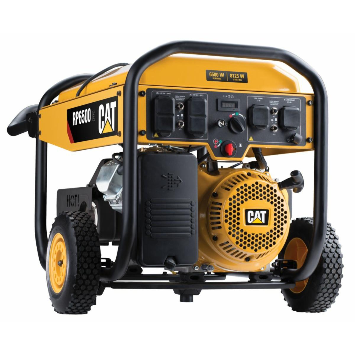 cat rp6500e 6500w electric start portable generator [ 1200 x 1200 Pixel ]