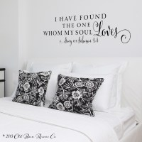 I have found the one whom my soul loves | Wall Decal - Old ...