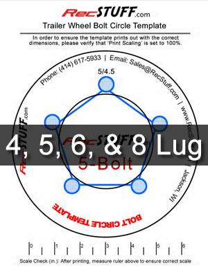 Trailer wheel bolt pattern template also recstuff rh