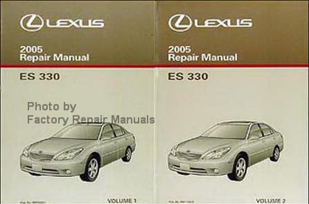 2005 Lexus ES330 Factory Service Manual Set Original Shop Repair  Factory Repair Manuals
