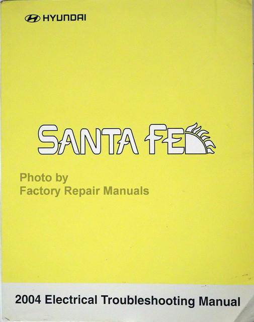 2004 Hyundai Santa Fe Electrical Troubleshooting Manual Wiring Diagram