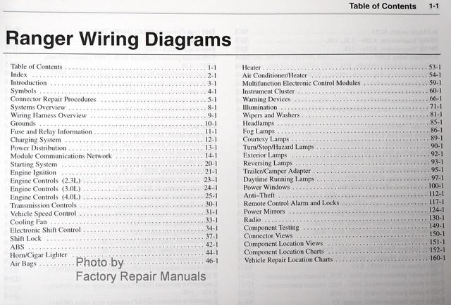 2002 Ford Ranger Electrical Wiring Diagrams Original