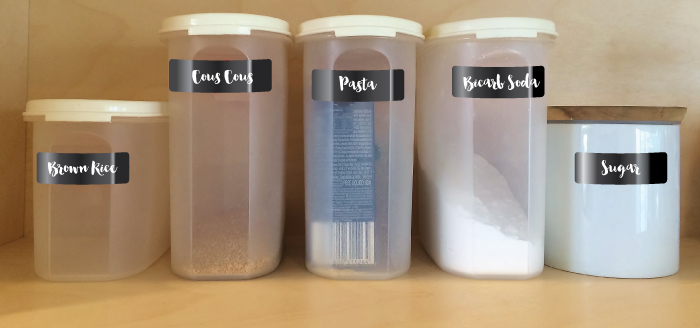 Designer Pantry Labels help organise your pantry as well as looking stylish...