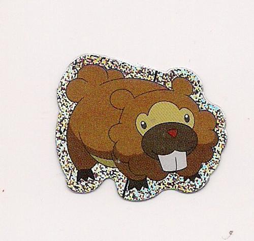 Pokemon Bidoof small foil sticker
