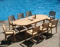 Teak Outdoor Patio Furniture Dining Sets | Wood-Joy
