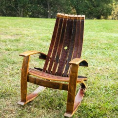Wine Adirondack Chair Deck Picture Frame Rocking With Cover Barrel Chairs