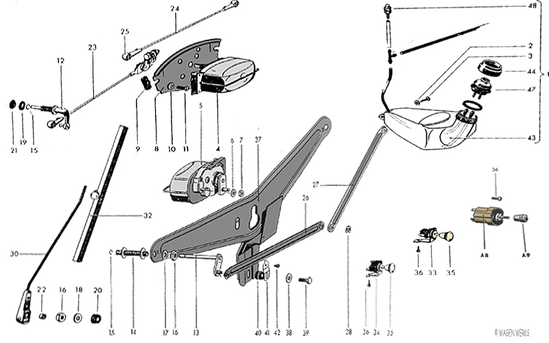 VW Type 2 Wiper Components