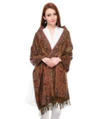 Over Shoulder Shawl - Wool Paisley Classic Kashmir Formal ...