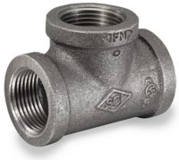 Smith Cooper 150# Black Malleable 1/8 in. Iron Tee Pipe ...