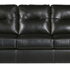 All Leather Sofa Bed Best For Pet Hair Dupree Genuine Black Pallucci Furniture Loading Zoom