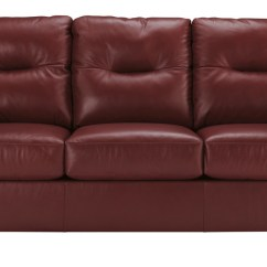 All Leather Sofa Bed Modern Contemporary Sectional Dupree Genuine Red Pallucci Furniture