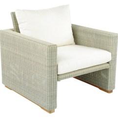 Kingsley Bate Amalfi Club Chair Tufted Recliner Authenteak Outdoor Elegant