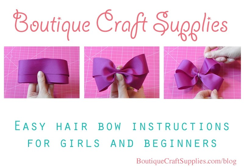 easy hair bow instructions