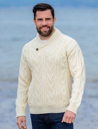 Mens Shawl Collar Sweater, Shawl Neck