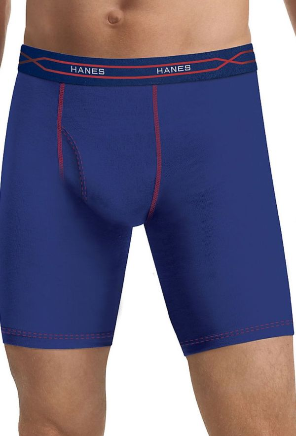 Mwbla3 Hanes Men' X-temp Performance Cool Long Leg Boxer