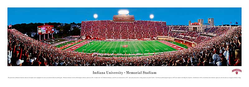 Indiana hoosiers at memorial stadium panorama poster also facts figures pictures and more of the rh collegegridirons