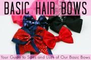 basic hair bows guide