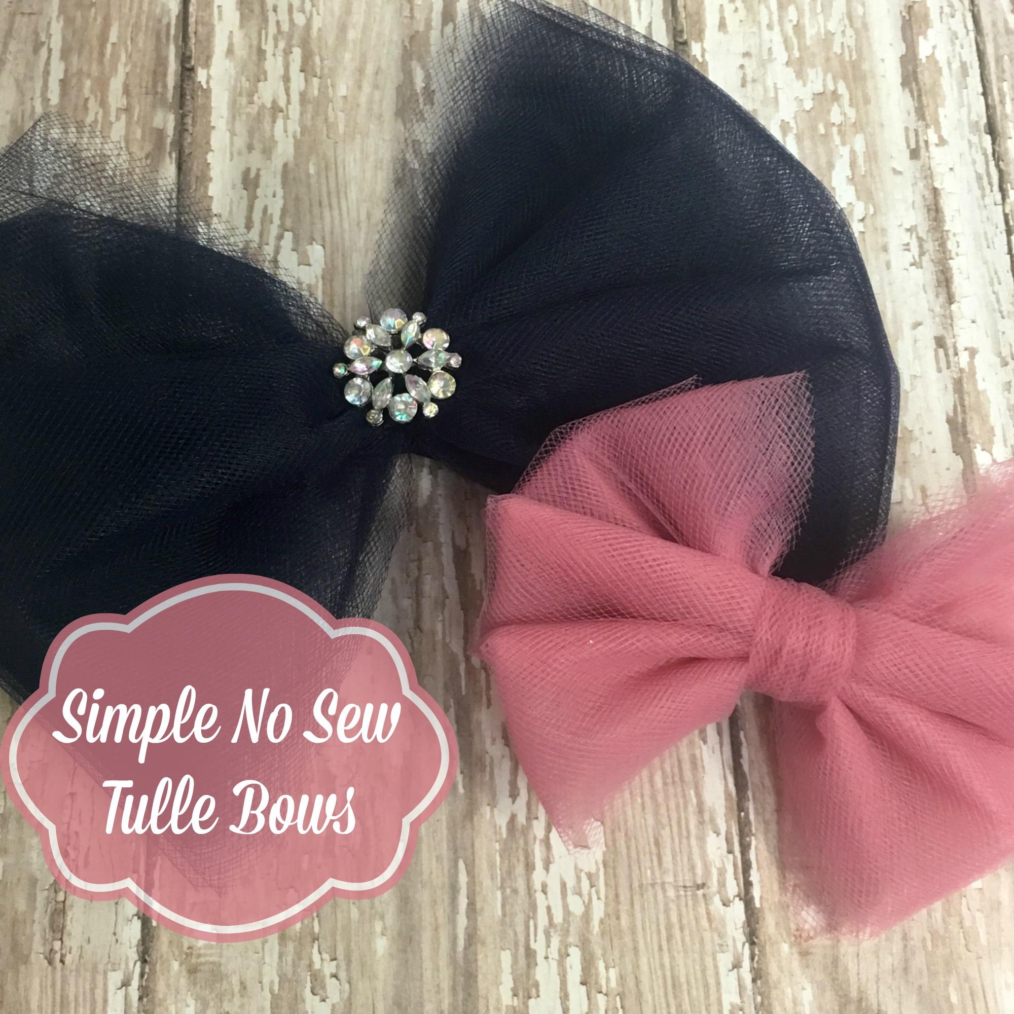 tulle hair bow
