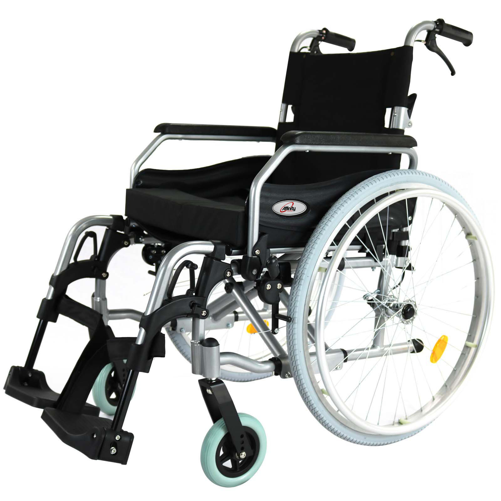 wheelchair ebay gaming desk chairs folding back alloy armrests 24 quot wheels manual