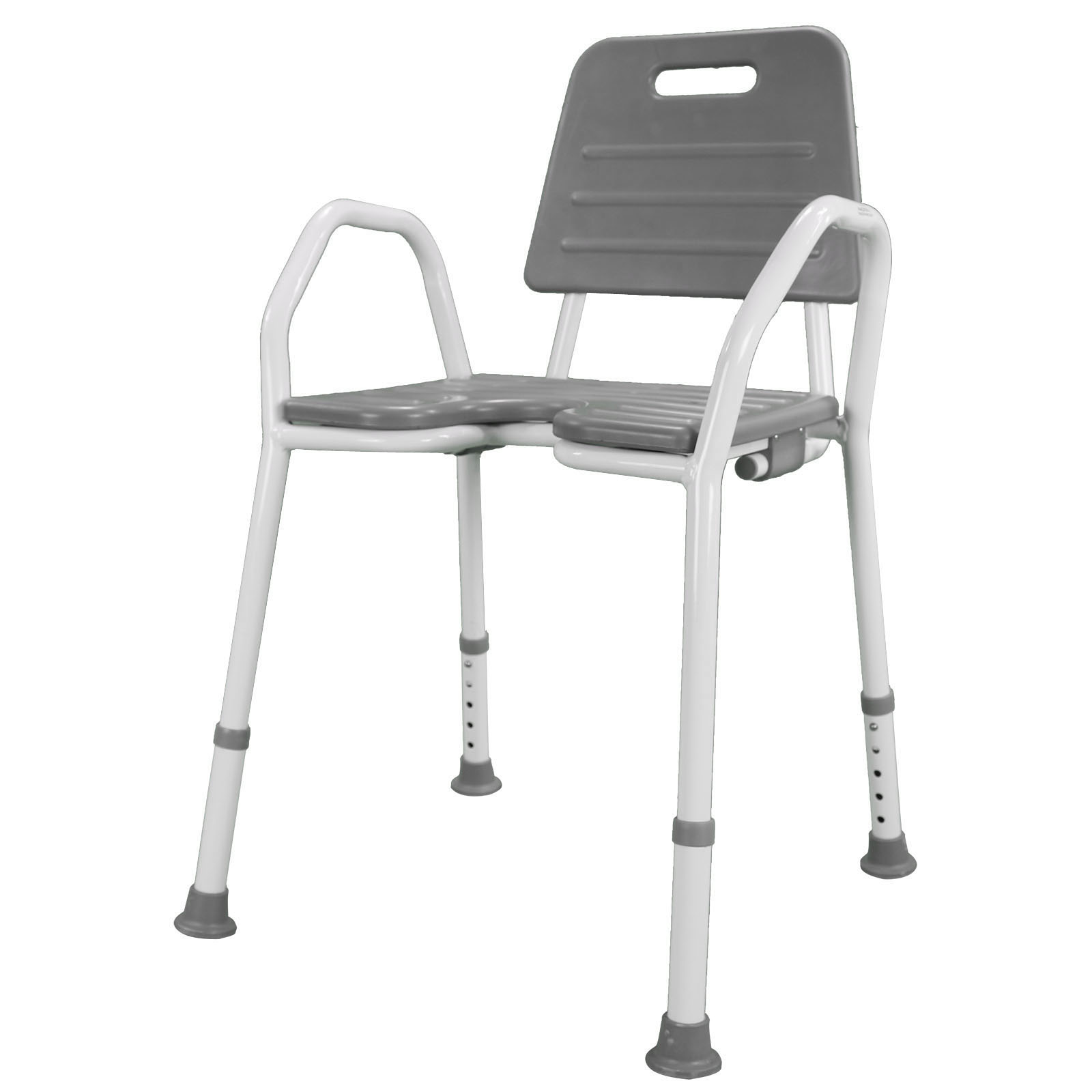 shower chair with wheels and removable arms baby 1 year old seat stool adjustable height soft backrest