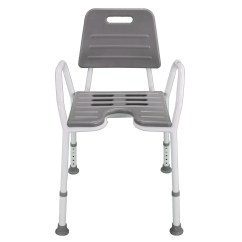 Shower Chair With Wheels And Removable Arms Rebar Spacing Seat Stool Adjustable Height Soft Backrest