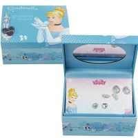 Disney Cinderella 3-pack Earring Set and Jewelry Box ...