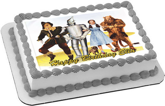 The Wizard Of Oz Edible Birthday Cake Topper
