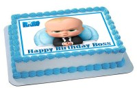The Boss Baby Edible Birthday Cake Topper