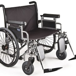Bariatric Transport Chair 24 Seat Cheap Black Covers For Sale Invacare 9000 Topaz Heavy Duty Wheelchair