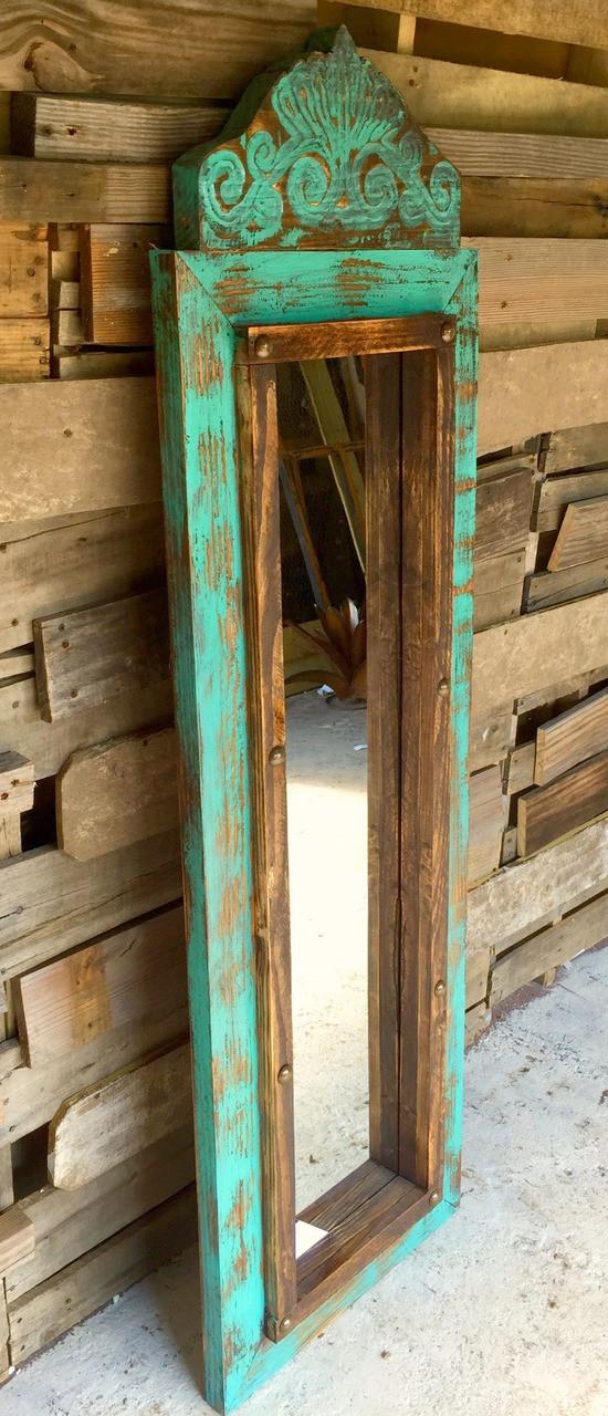 Agave Medium Floor Mirror Sofia S Rustic Furniture