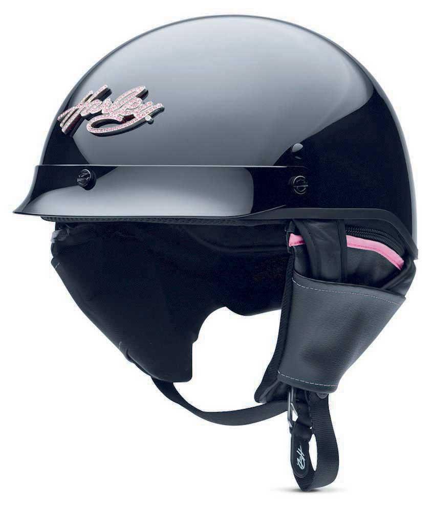 Harley-davidson Womens Pink Label Bling Hybrid 1 2 Helmet