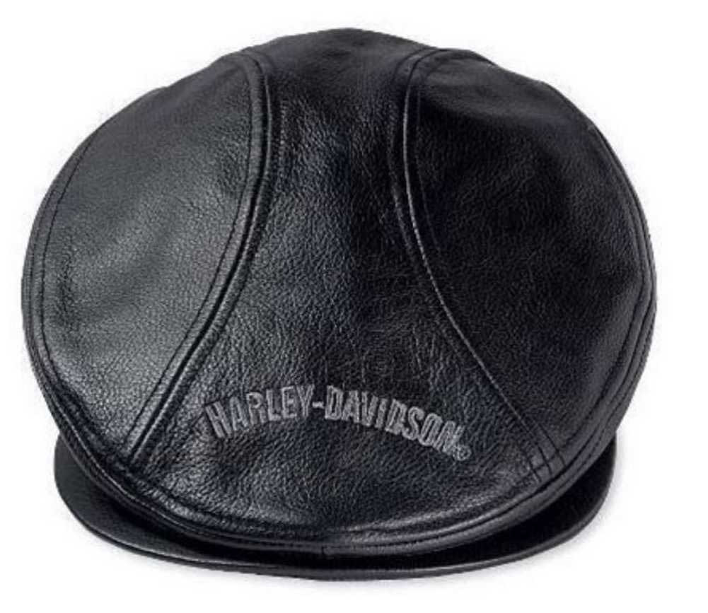 Harley-davidson Men' Nostalgic Trademark Leather Ivy Cap