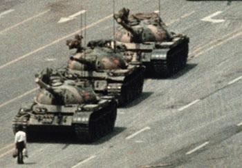 Protester Run Down in 1989 in Bejing