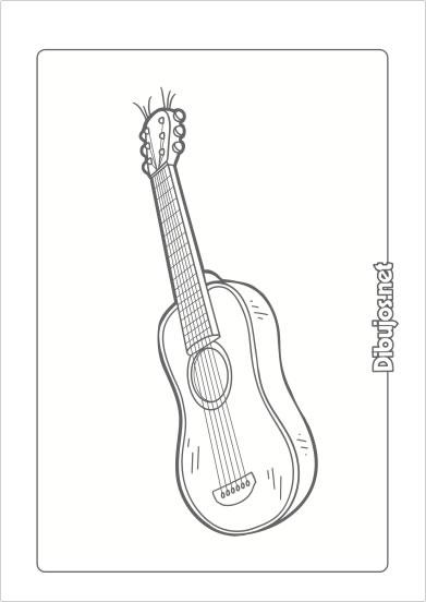 10 Dibujos de Instrumentos Musicales para imprimir y