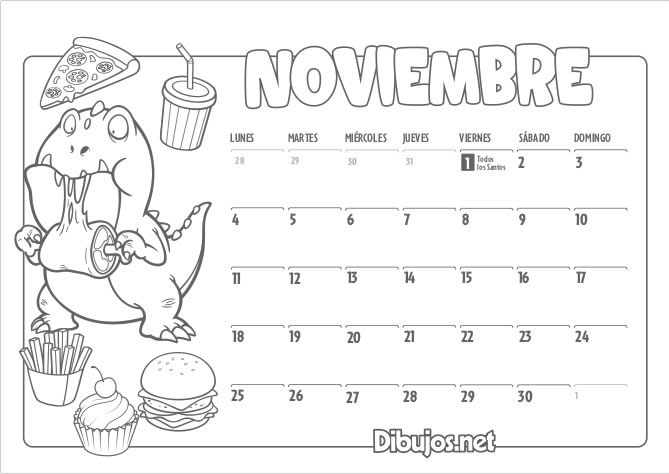 Calendario Dibujo 2019.Calendario Infantil 2019