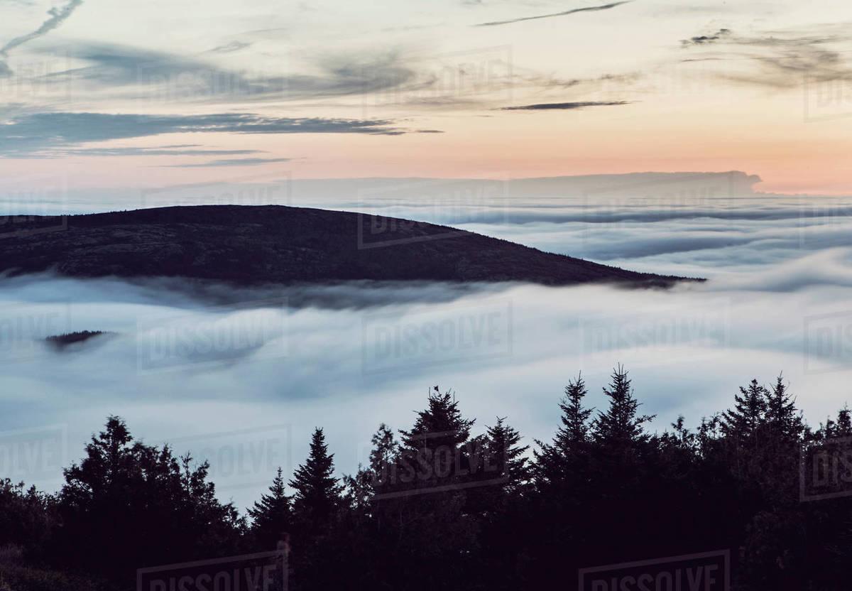 cadillac mountain top above
