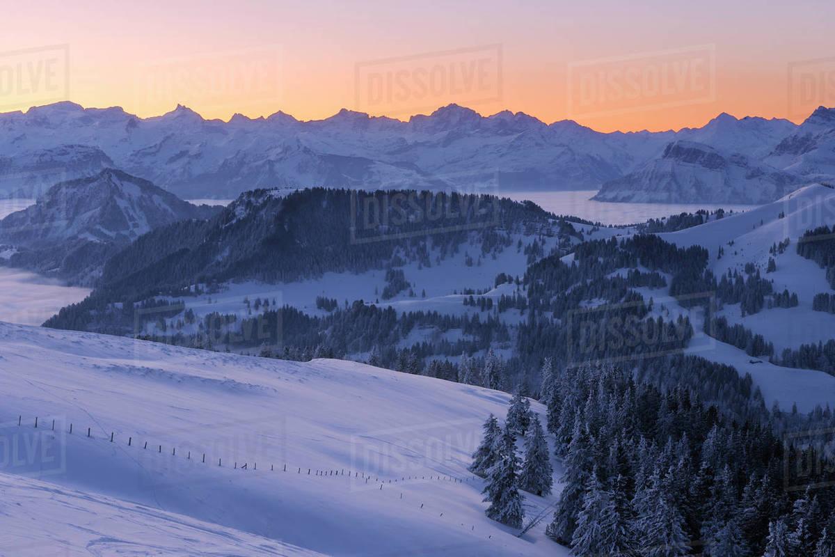 sunrise from rigi rigi