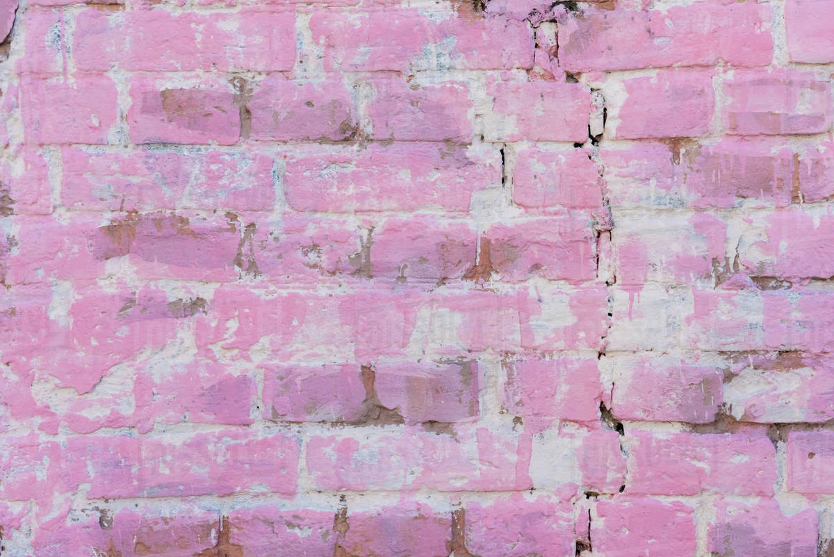 old pink brick wall
