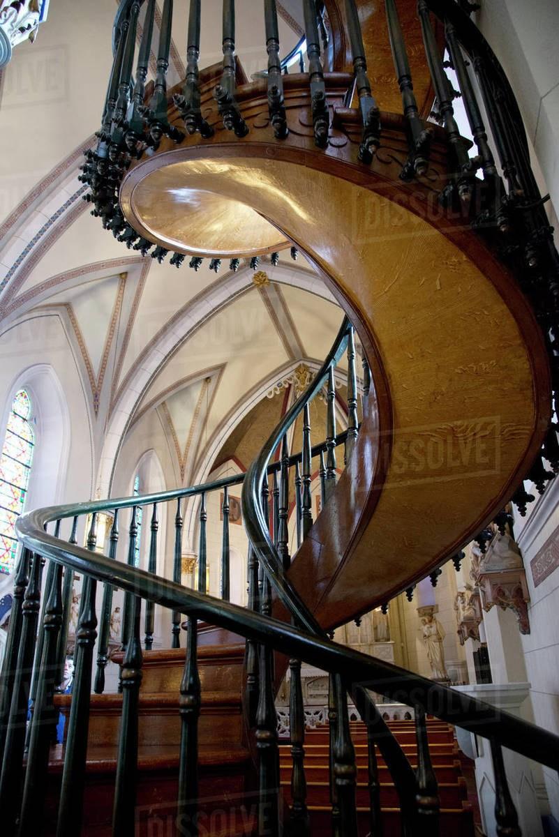 Loretto Chapel Spiral Staircase In Santa Fe New Mexico United   Chapel With Spiral Staircase   Catholic Church   Stairway   Miraculous   Choir Loft   Sante Fe