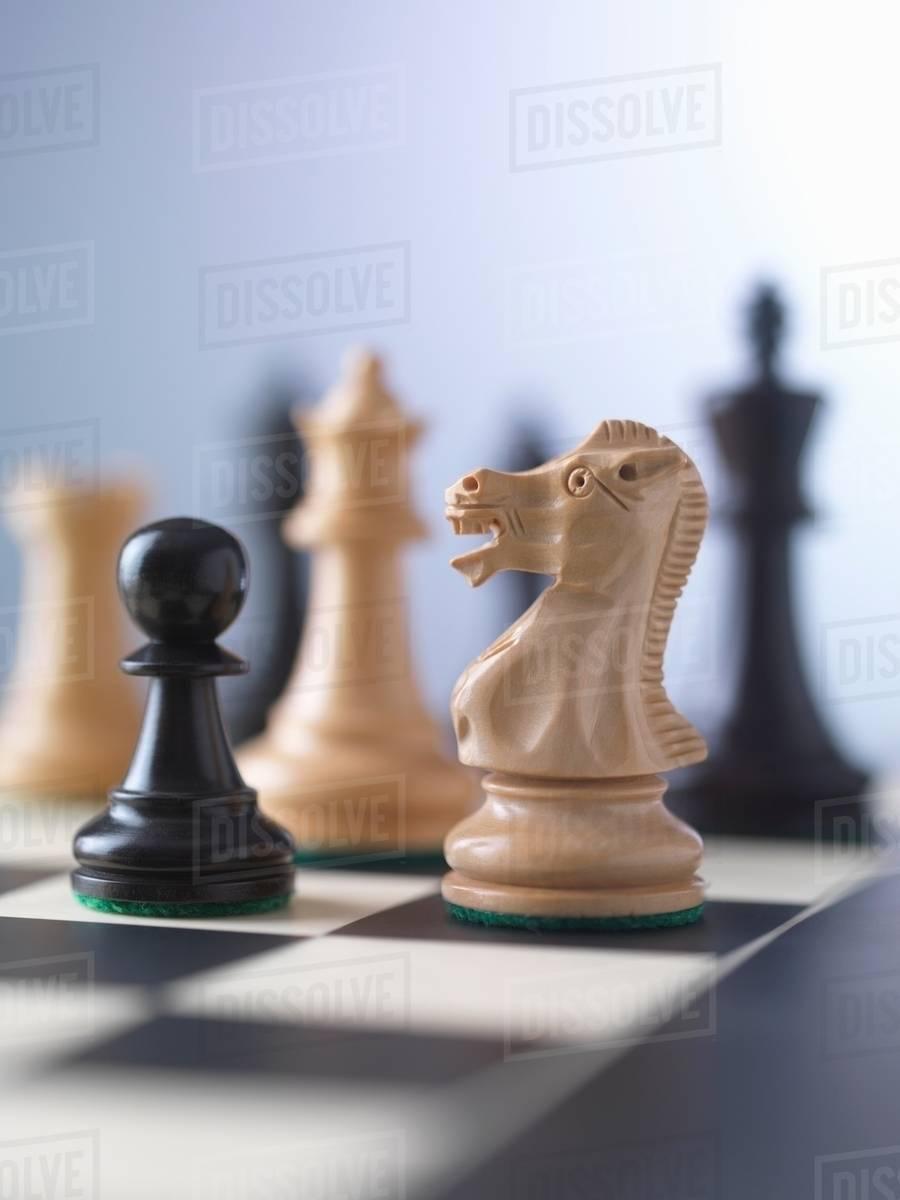 chess game player preparing