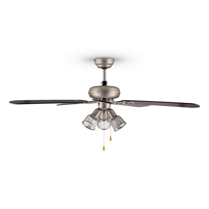 Charleston Retro Ceiling Fan Light 60W 122cm 3 Wooden