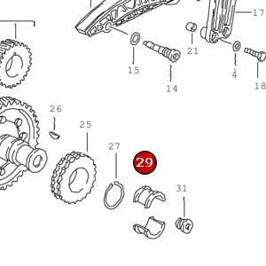 Thrust Bearing Shell for Intermediate Shaft 99610113780