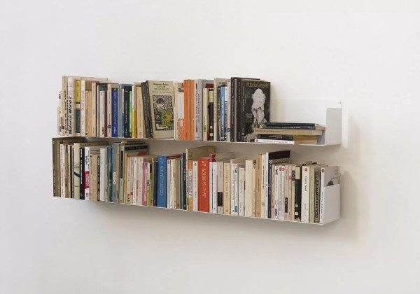 "Set Of 4 Wall-mounted Bookshelves ""u"" - Teebooks"