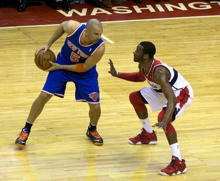 John Wall guards Jason Kidd of the New York Knicks at Washington Wizards March 1, 2013