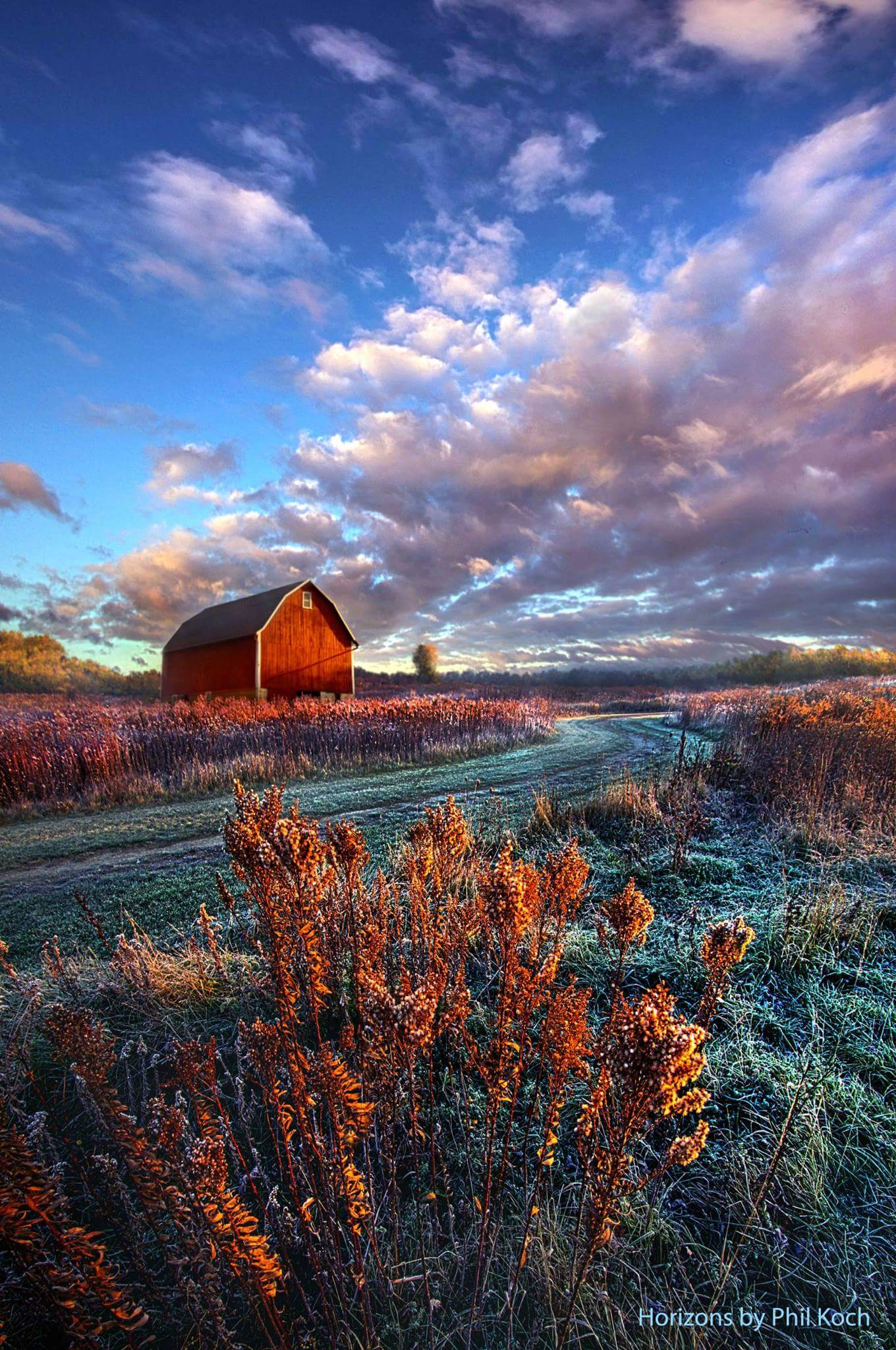 Fall Barn Wallpaper Quot Not All Roads Are Paved Quot Horizons By Phil Koch