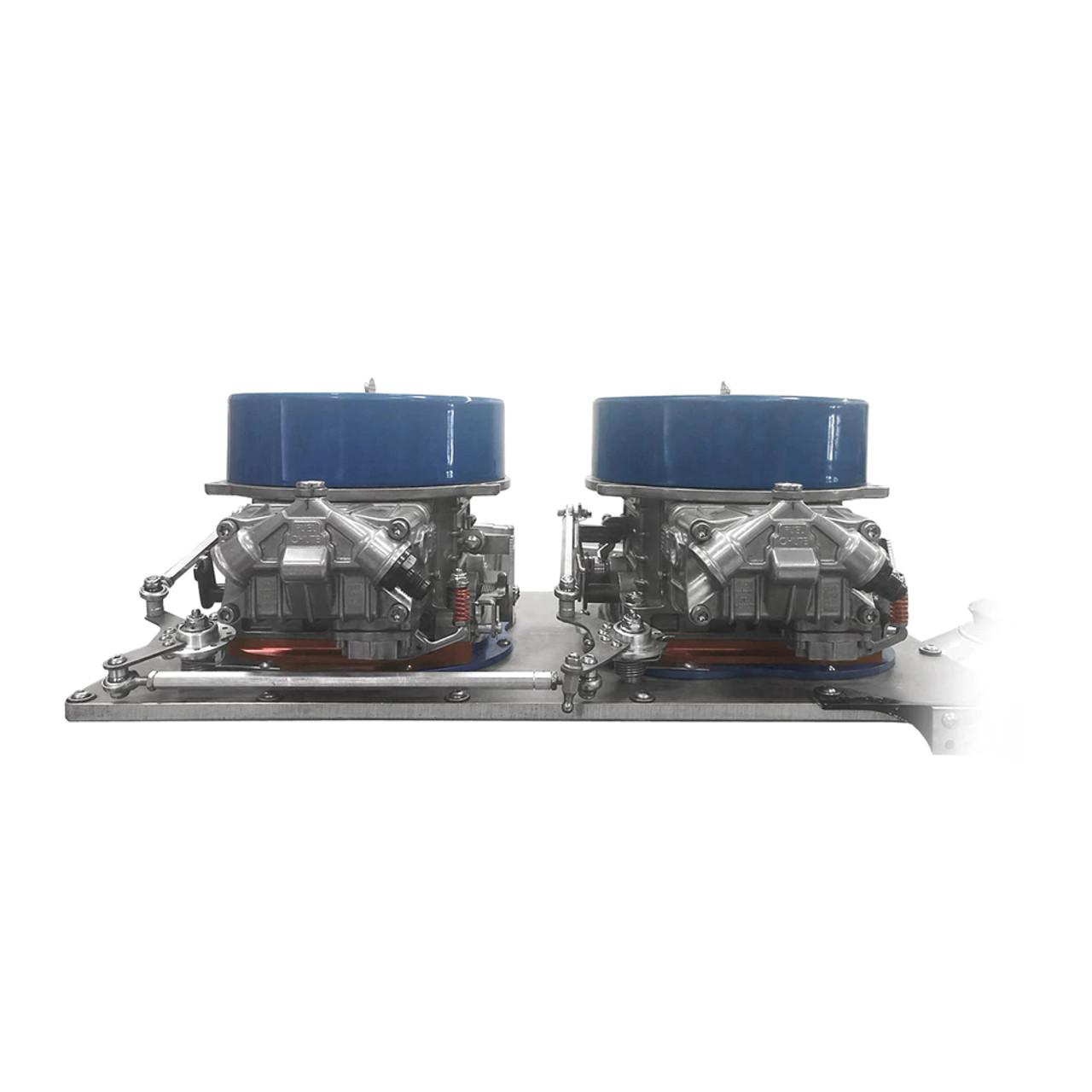 medium resolution of  dual bell crank throttle linkage kit installed
