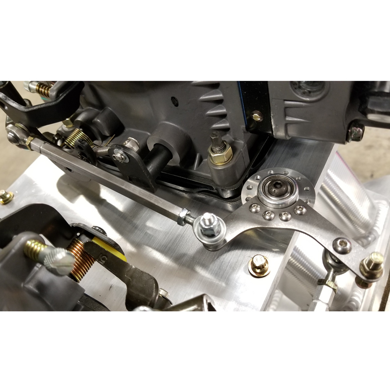hight resolution of  dual bell crank throttle linkage kit installed